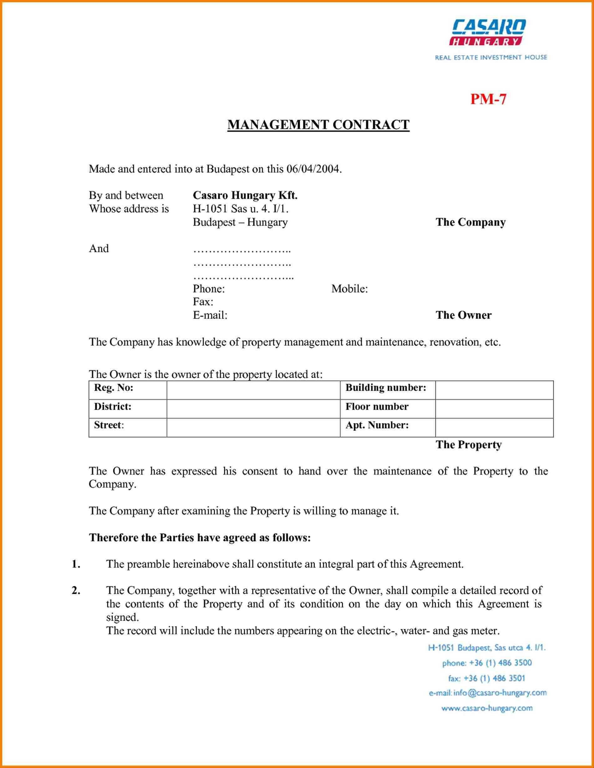 Commercial Real Estate Managementt Fresh Free Property Forms With Free Commercial Property Management Agreement Template