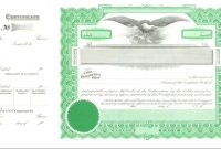 Common Stock Certificate Template   Fabulousfloridakeys for Stock Certificate Template Word