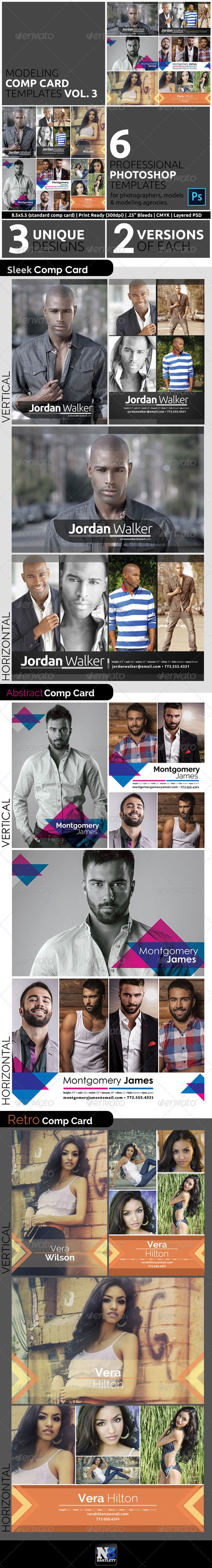 Comp Card Graphics Designs  Templates From Graphicriver With Comp Card Template Psd