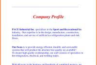 Company Business Profile Sample  Company Letterhead with Simple Business Profile Template