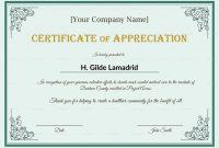 Company Employee Appreciation Certificate Template inside Best Employee Award Certificate Templates
