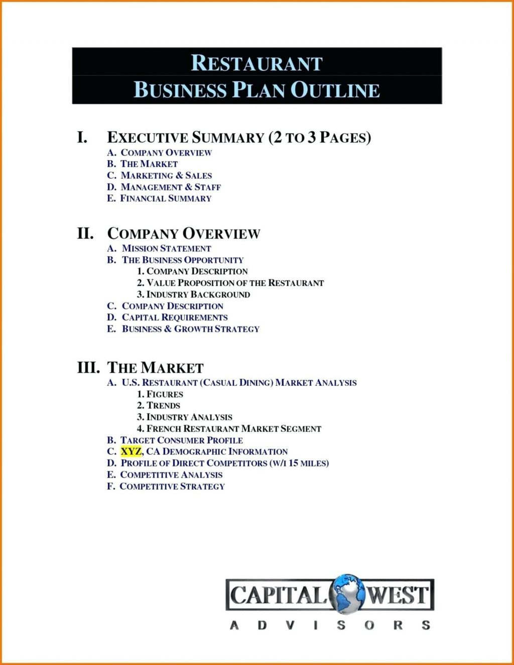 Company Profile Template For Small Business Inspirational Restaurant Intended For Free Business Profile Template Word