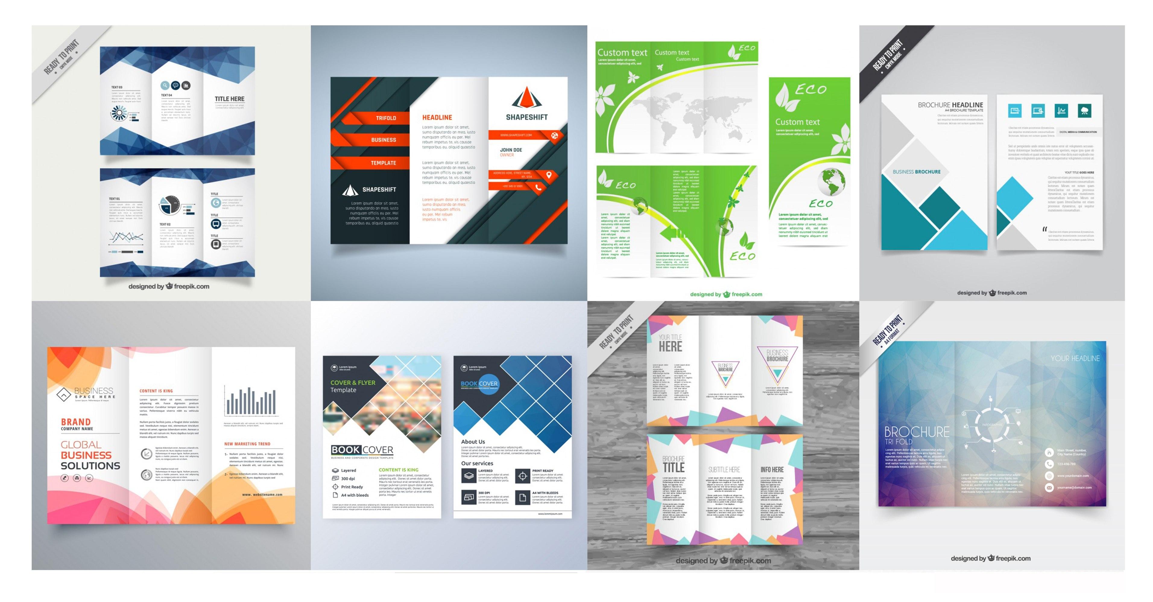 Compilation  Free Brochure Templates  Freepik Blog In Training Brochure Template