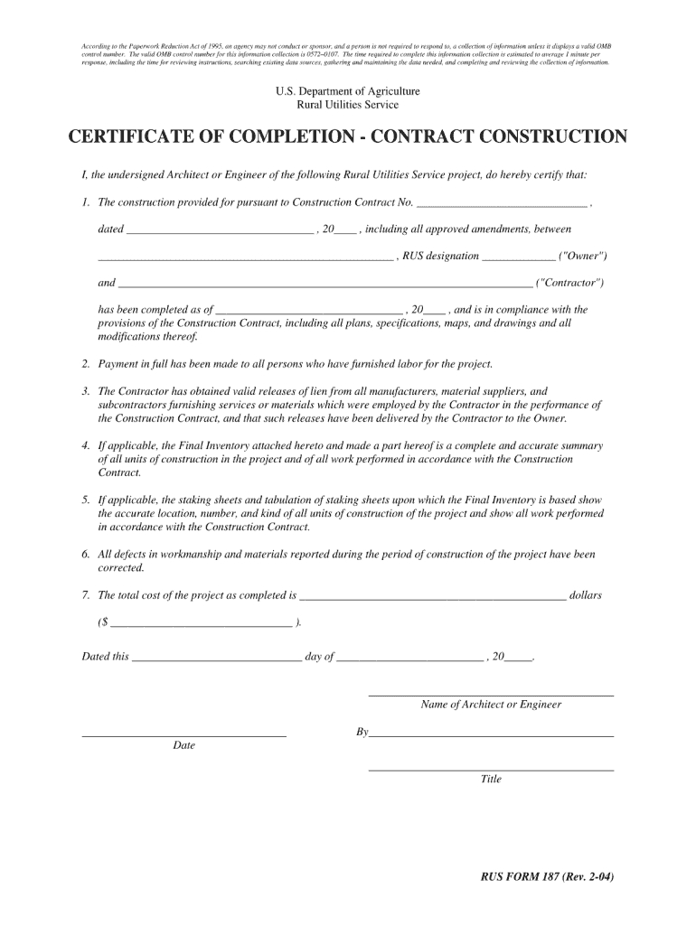 Completion Certificate Sample Construction  Fill Online Printable Regarding Construction Certificate Of Completion Template
