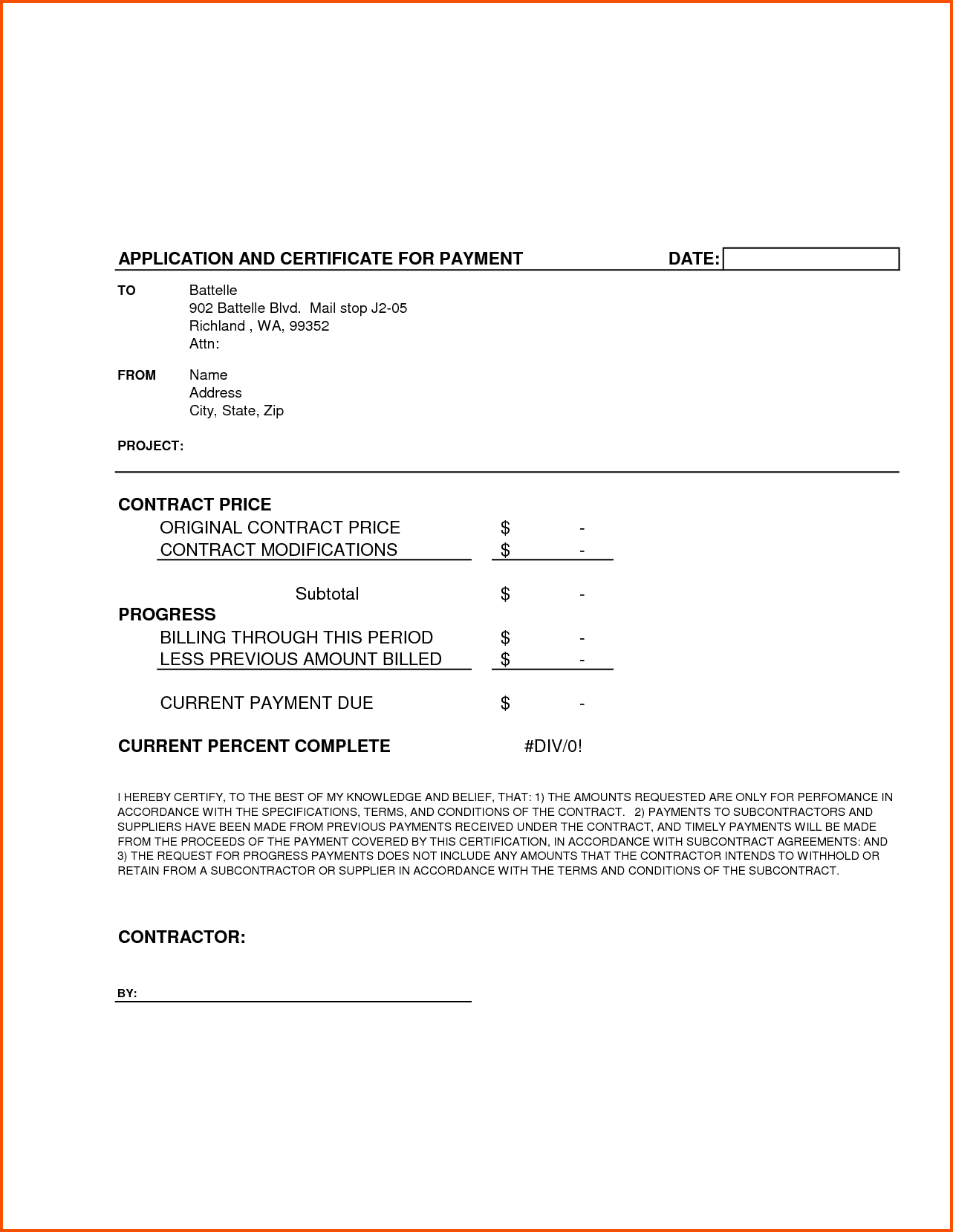 Completion Template Doc Certificate Certification Letter For Regarding Construction Payment Certificate Template