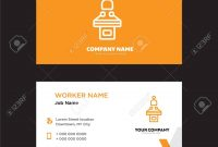 Conference Business Card Design Template Visiting For Your Company intended for Conference Id Card Template