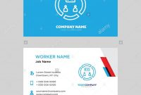 Conference Business Card Design Template Visiting For Your Company pertaining to Conference Id Card Template