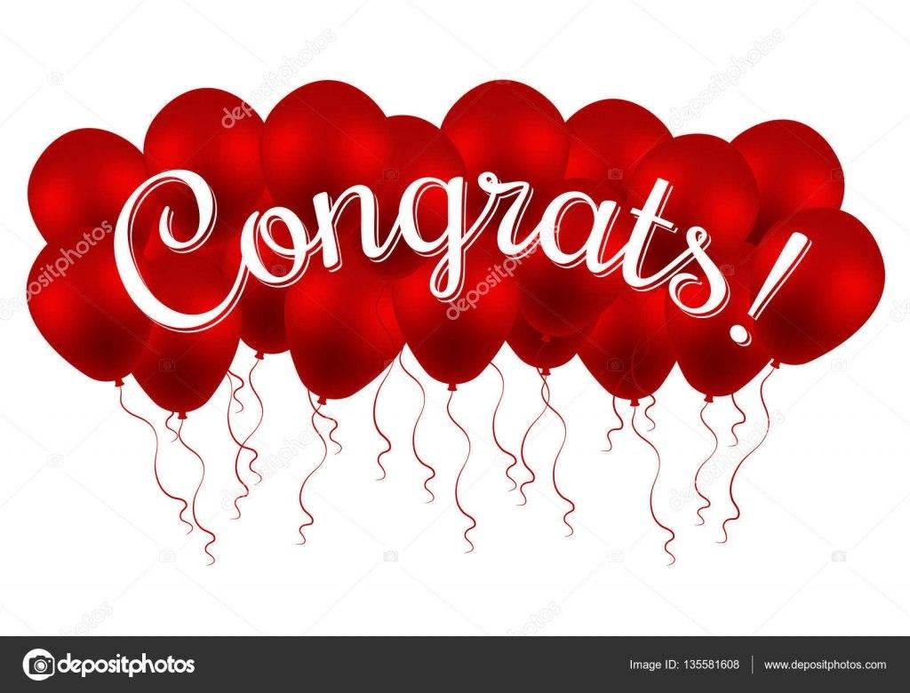 Congrats Congratulations Vector Banner With Balloons And Letter Within Congratulations Banner Template