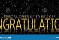 Congratulations Banner Template Stock Vector  Illustration Of inside Congratulations Banner Template