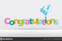 Congratulations Colorful Balloons White Background Congratulations regarding Congratulations Banner Template