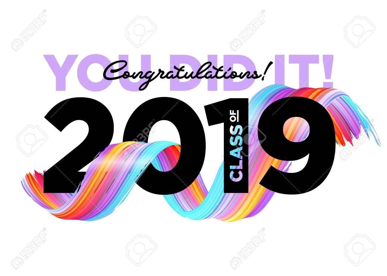 Congratulations Graduates Class Of  Vector Logo Graduation Throughout Graduation Banner Template