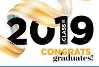 Congratulations Graduates Class Of  Vector Logo Graduation within Graduation Banner Template