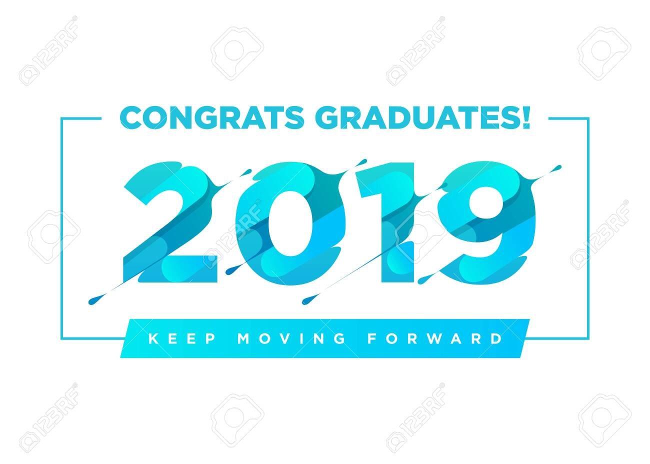 Congratulations Graduates Vector Logo Graduation Background With Graduation Banner Template