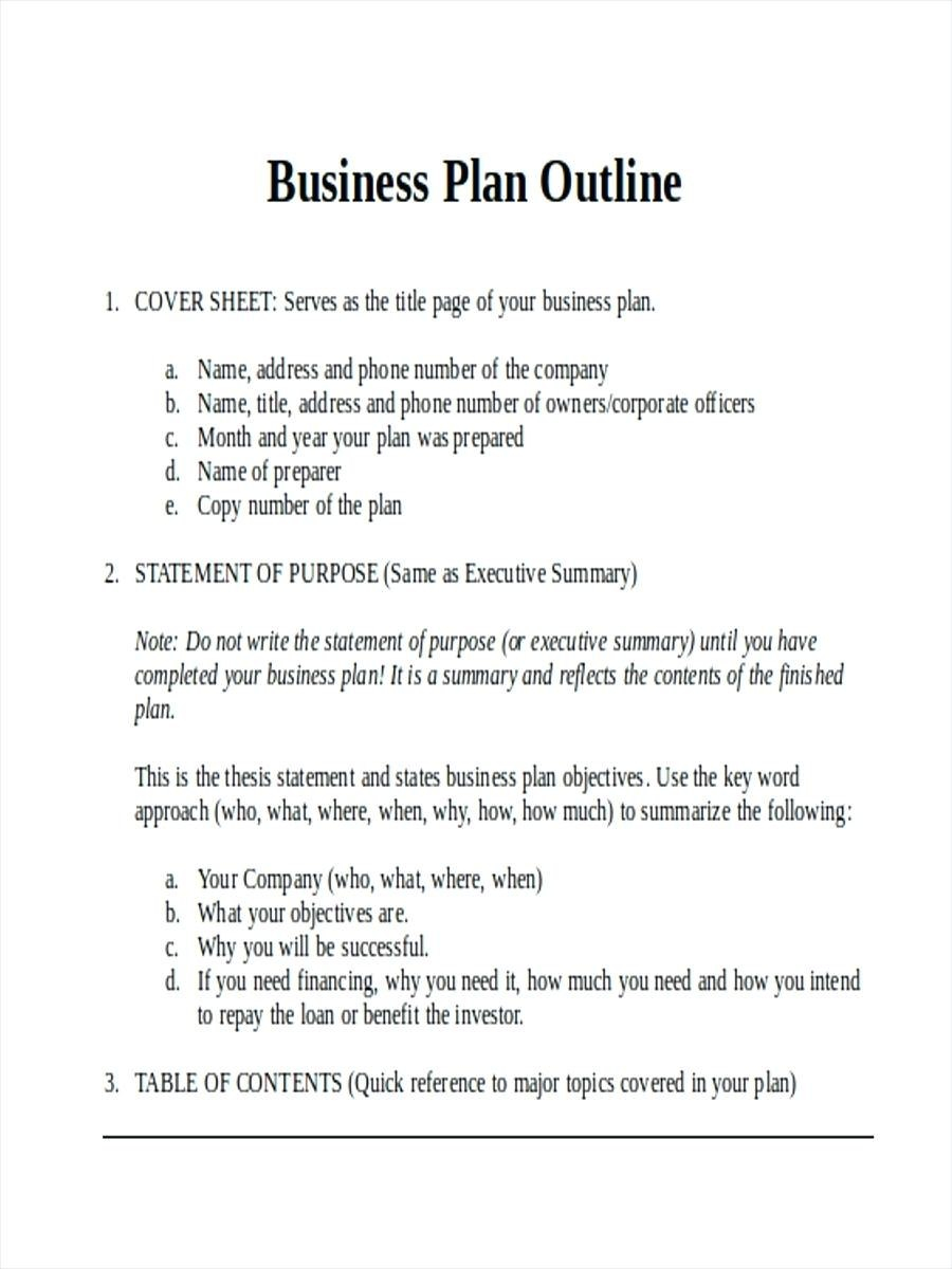 Construction Business Plan Template Outline Examples In Word S Within Construction Business Plan Template Free