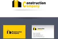 Construction Company Business Card Template Vector Image with regard to Construction Business Card Templates Download Free