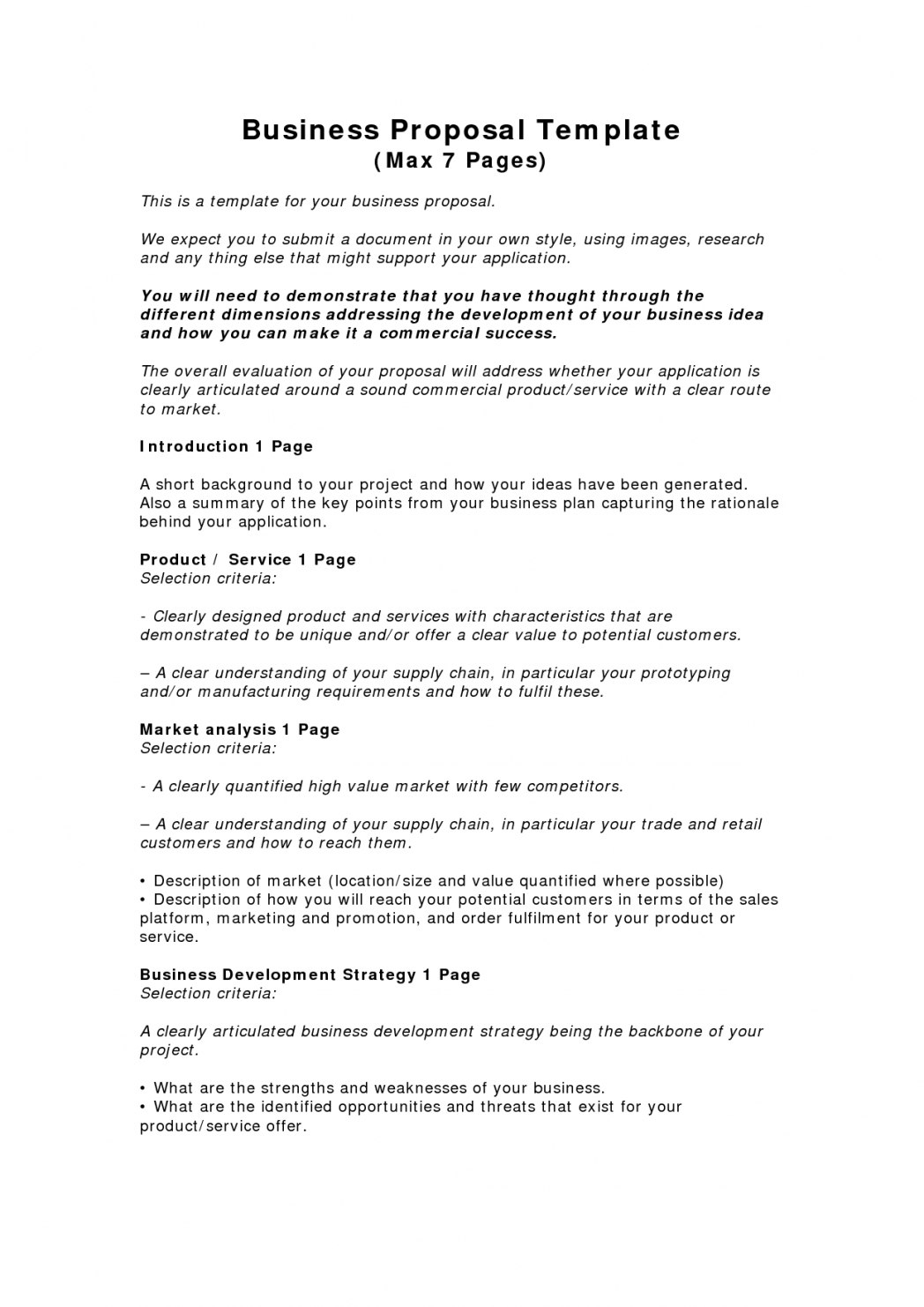 Consulting Business Plan Template Pdf Image Proposal Letter And Throughout Consulting Business Plan Template Free