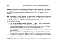 Consumer Loan Agreement Sample  Agreement Templates  Private Loans intended for Consumer Loan Agreement Template