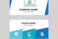 Contact Id Card Business Card Design Template Visiting For Your intended for Company Id Card Design Template