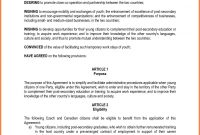 Contract Agreement Template Between Two Parties in Mutual Understanding Agreement Template