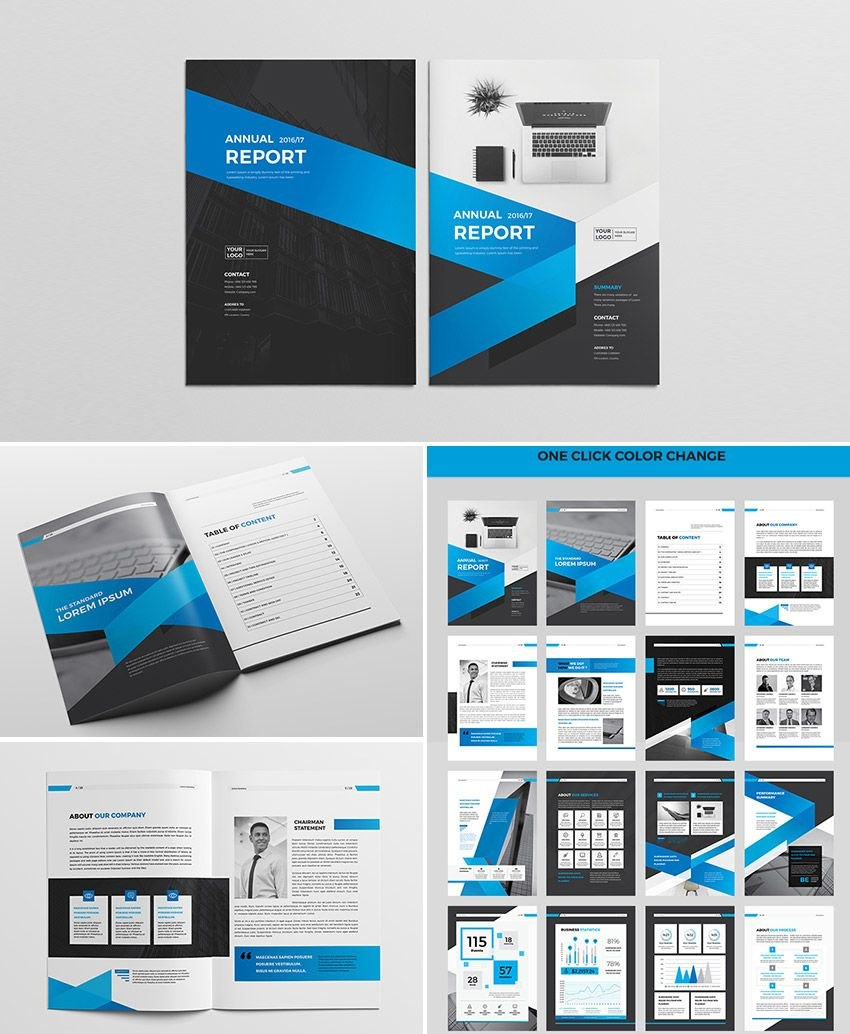 Cool Indesign Annual Corporate Report Template  Report Indesign With Regard To Free Indesign Report Templates
