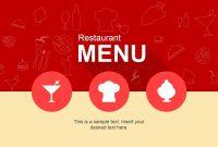 Cool Restaurant Menu Powerpoint Template  Presentation  Menu intended for Powerpoint Restaurant Menu Template