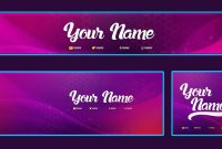 Cool Youtube Banner Template Banner Facebook Cover Avatar  Psd inside Facebook Banner Template Psd