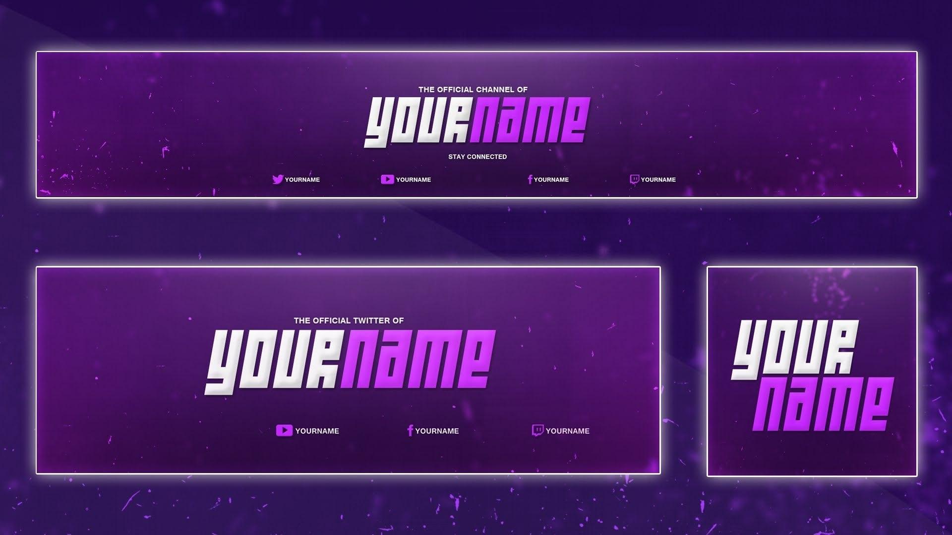 Cool Youtube Banner Template  Banner Twitter Header Avatar Psd Intended For Twitter Banner Template Psd