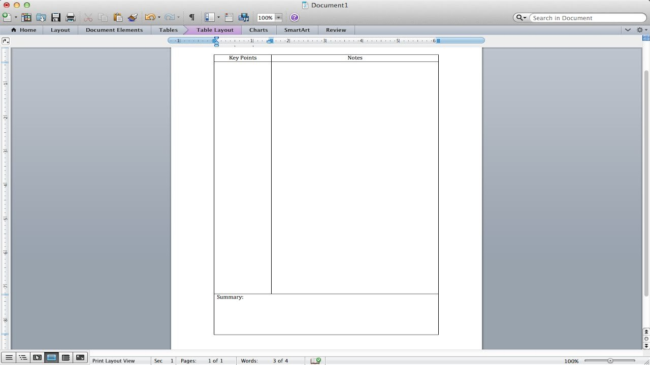 Cornell Notes Tutorial  How To Make A Cornell Notes Template Using Regarding Note Taking Template Word