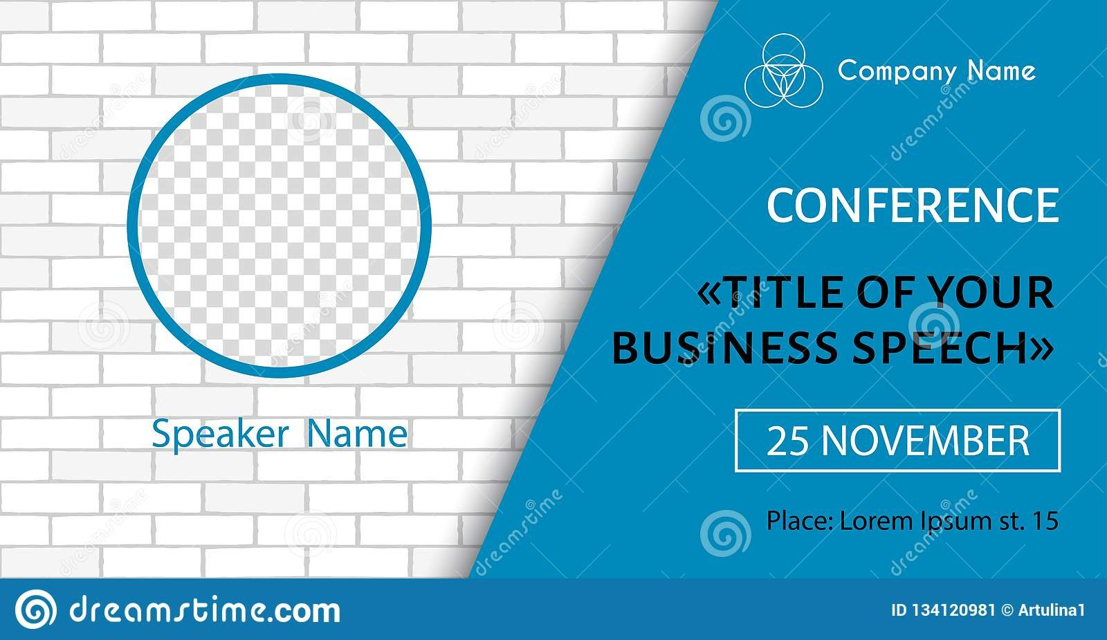 Corporate Announcement Poster Template Vector Flyer For Business In Event Banner Template