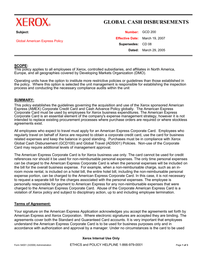 Corporate Functional Guide Template Throughout Company Credit Card Policy Template