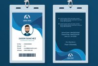 Corporate Id Card Design Template Royalty Free Vector Image within Company Id Card Design Template