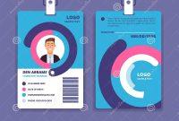 Corporate Id Card Professional Employee Identity Badge With Man regarding Company Id Card Design Template