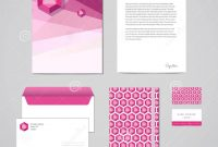 Corporate Identity Design Template Documentation For Business in Business Card Letterhead Envelope Template