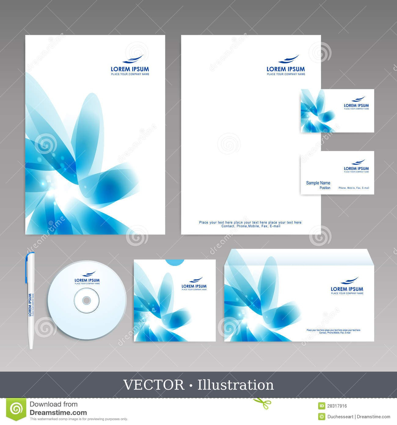 Corporate Identity Template Stock Vector  Illustration Of Element Inside Template For Id Card Free Download