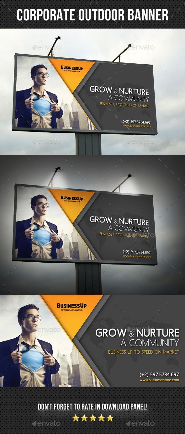 Corporate Outdoor Banner Rapidgraf Highly Editable Psd Outdoor Pertaining To Outdoor Banner Design Templates