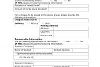 Corporate Sponsorship Form Template throughout Corporate Sponsorship Agreement Template