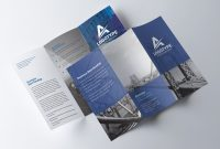 Corporate Trifold Brochure  Psd Template  Free Psd Flyer within Brochure Psd Template 3 Fold