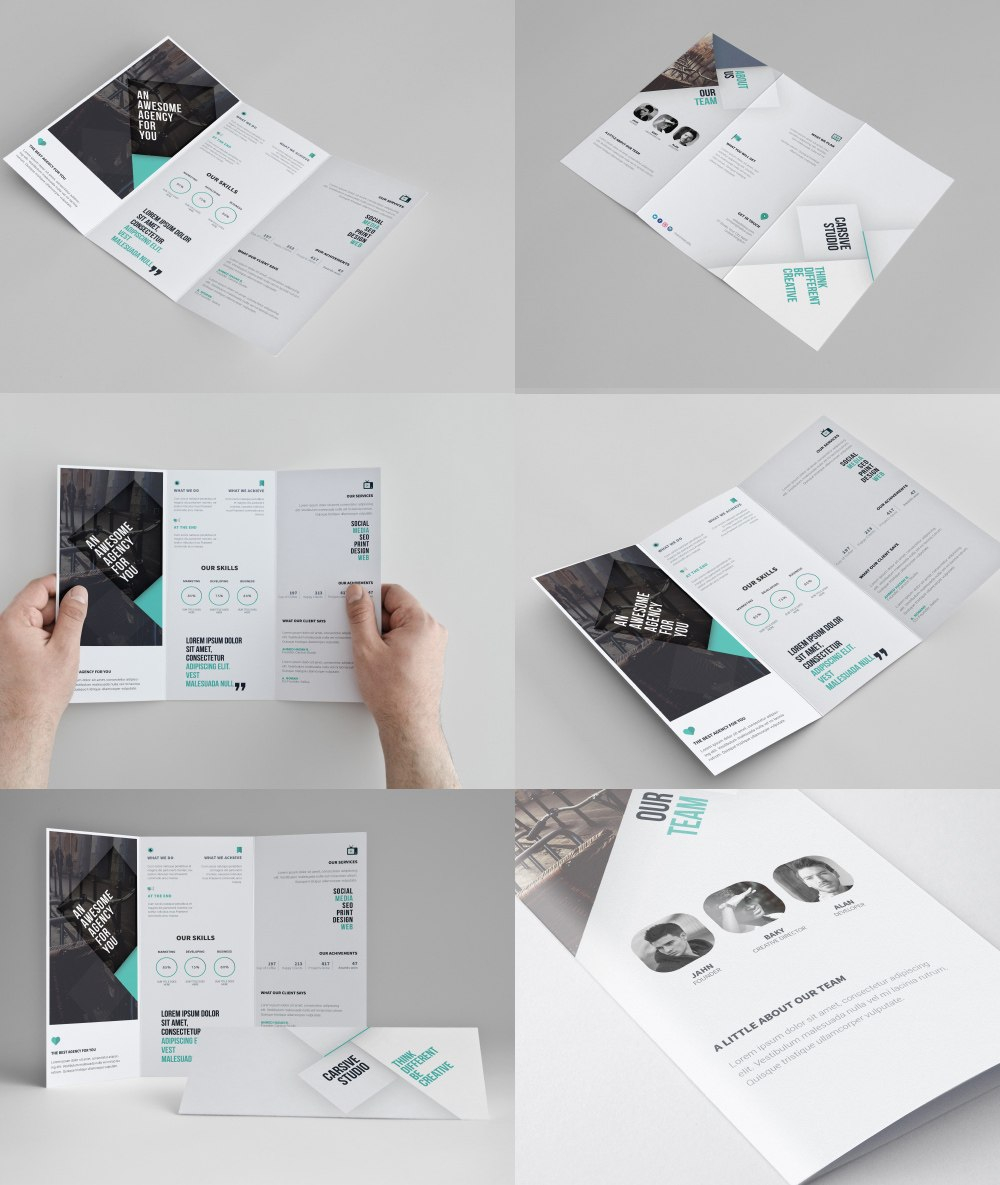 Corporate Trifold Brochure Template Free Psd  Download Psd In 3 Fold Brochure Template Psd Free Download