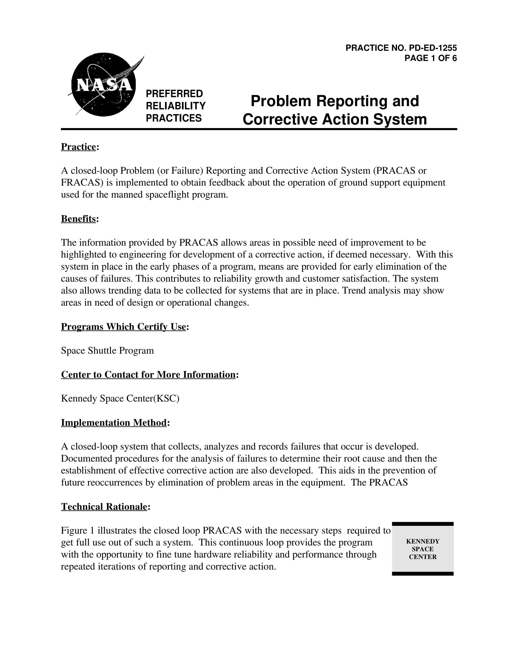 Corrective Action Report Examples  Pdf  Examples For Fracas Report Template
