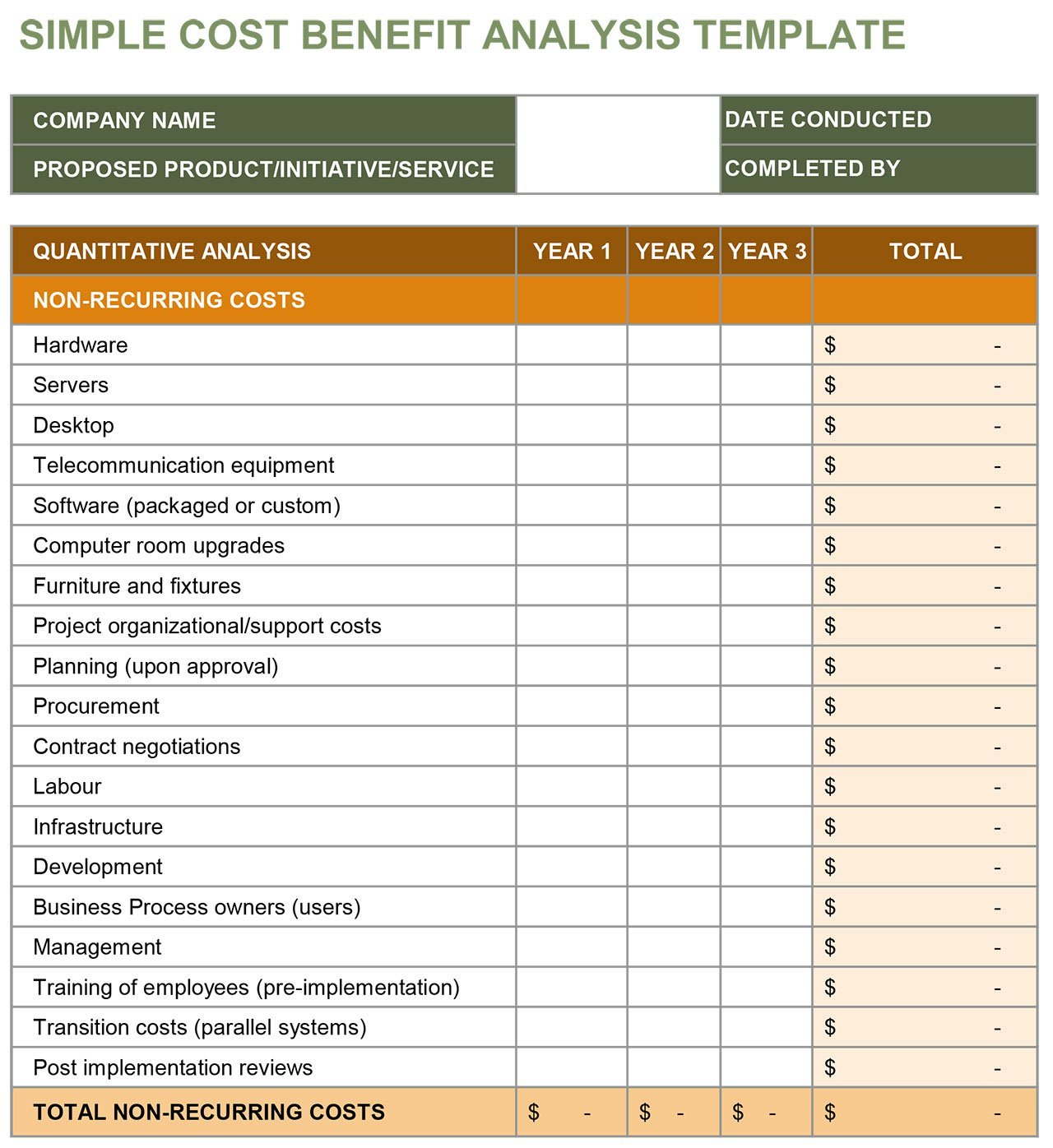 Cost Benefit Analysis An Expert Guide  Smartsheet Throughout Business Costing Template