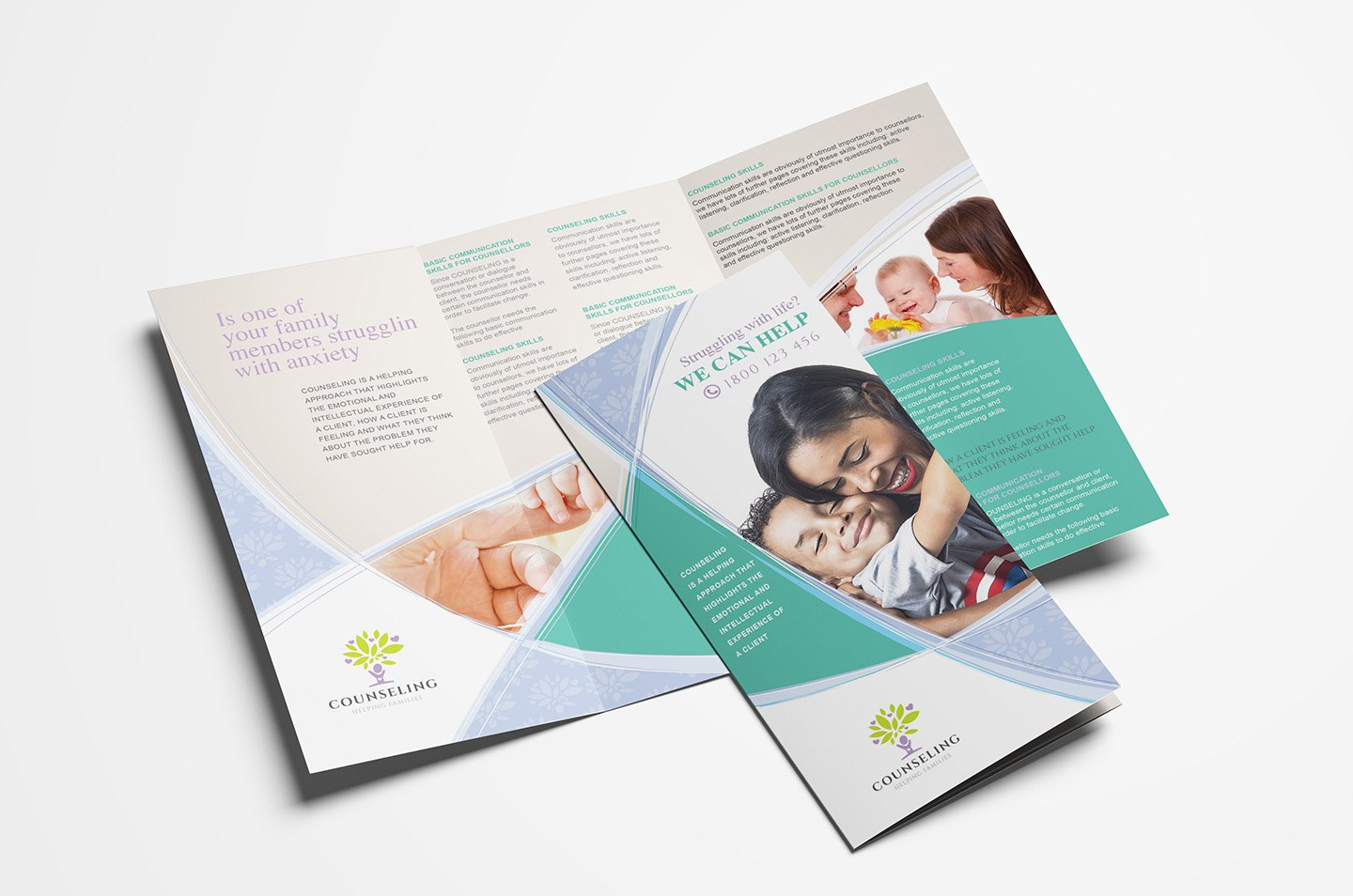 Counselling Service Trifold Brochure Template In Psd Ai  Vector In Training Brochure Template