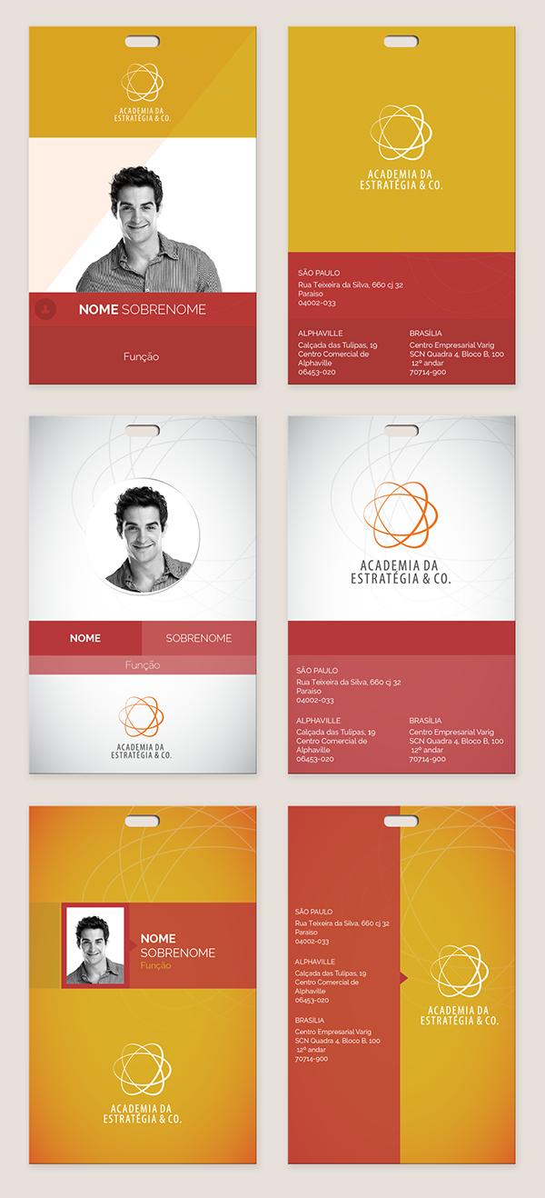 Crachá De Identificação On Behance  Design Inspirations  Badge Intended For Personal Identification Card Template