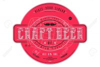 Craft Beer Label Template In Vintage Style Label With Color regarding Craft Label Templates