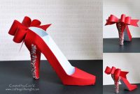 Crafting In The Night D High Heel Shoe  Svgcuts  D Projects inside High Heel Template For Cards