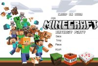 Craftysusanita  Things To Try  Minecraft Party Invitations pertaining to Minecraft Birthday Card Template