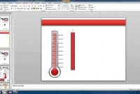 Create A Custom Thermometer  Youtube inside Powerpoint Thermometer Template