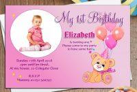 Create Amazing St Birthday Invitation Card Template In Telugu for First Birthday Invitation Card Template
