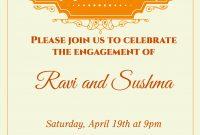 Create Custom Example Of Engagement Invitation Card Photo For for Engagement Invitation Card Template
