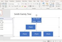 Create Family Trees Using Powerpoint Organization Chart in Powerpoint Genealogy Template