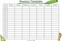 Create Revision Timetable  Icardcmic within Blank Revision Timetable Template